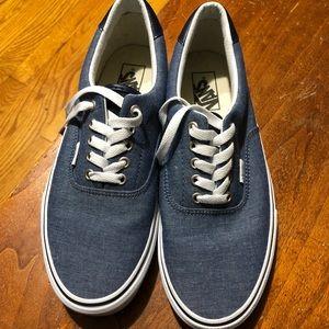 NWOT Men's Vans Blue and White Sz 10